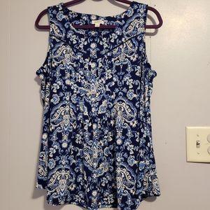 Westport sleeveless pleated shirt XL